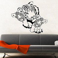 Family Tigers Wall Decals Tiger Predator Animal Vinyl Decal Sticker Home Interior Design Art Mural Nursery Home Bedroom Decor C519