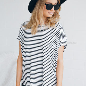 kaily top - stripe
