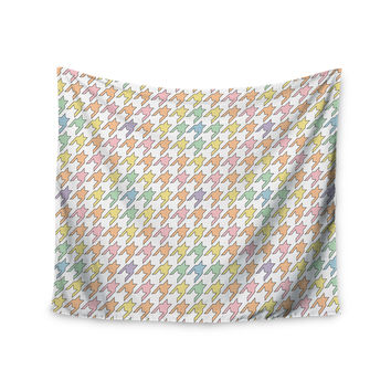 "Empire Ruhl ""Pastel Houndstooth"" Wall Tapestry"