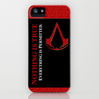Assassin's creed nothing is true everything is permited apple iPhone 3, 4 4s, 5 5s 5c, iPod & samsung galaxy s4 case cover