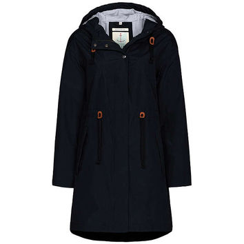 Seasalt RAIN® Collection Porthchapel Waterproof Mac | Black at John Lewis