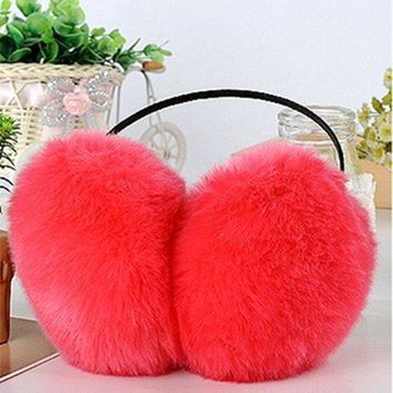 Cute Imitation Rabit Fur Winter Warm Earmuffs