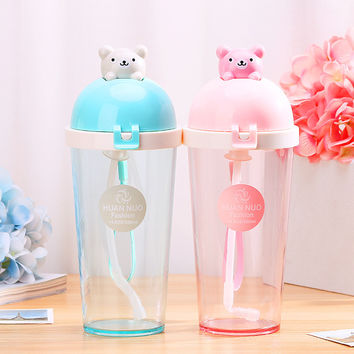 Creative Plastic Water Bottle Space Cup For Children Kids Drink Bottle