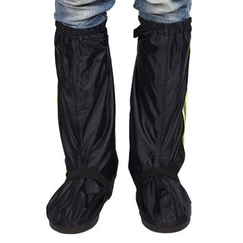 Unisex Waterproof Motorcycle Bicycle Riding Non-Slip Rain Boots Shoes Covers Protective Overshoes Boot Shoes