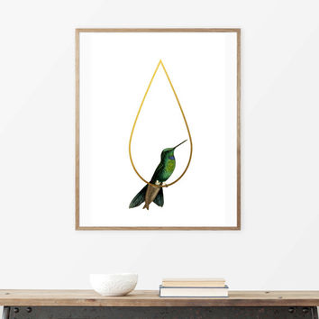 Printable Art, Prints, hummingbird, Posters Wall Art Prints Geometric Art, Art, Wall Art, Wall Art Prints, minimalist poster, Print, poster.