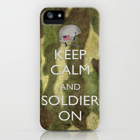 Keep Calm and Soldier On iPhone & iPod Case by Bruce Stanfield