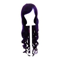 Ayumi - Plum Purple Wig 29'' Long Curly Cut w/ Long Bangs