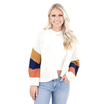 Women's BB Dakota Block and Roll Cardigan Sweater