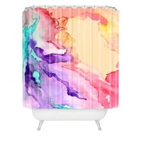 Rosie Brown Color My World Shower Curtain Standard Sample Sale