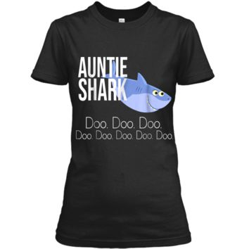 """Auntie Shark"" Baby Mommy Daddy Matching Family Shark  Ladies Custom"