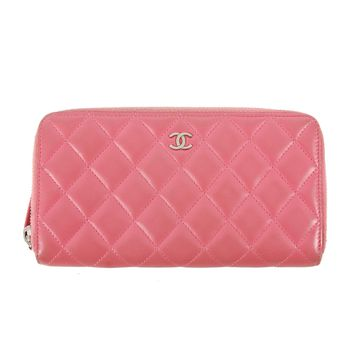 Chanel Pink Quilted Wallet