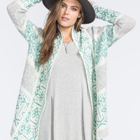 Full Tilt Boucl  Native Womens Cardigan Multi  In Sizes