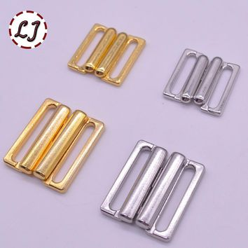 10pcs/lot 14mm/20mm Craft silver gold metal Rectangle Tape Closure Hook & Clasp Waist Extenders Sewing On Clothes Bra Clip Hooks