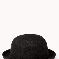 Laid Back Open-Knit Bowler Hat