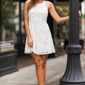 Eyes For Only You Dress, Cream