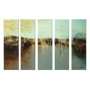 Shades of Brown Modern Abstract Canvas Wall Art Oil Painting