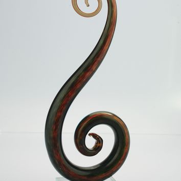 Music Note Glass Home Decor Sculpture