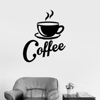 Vinyl Decal Kitchen Coffee Shop Cup House Decor Wall Stickers Mural (ig2687)
