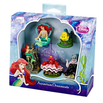 Little Mermaid 5-Piece Mini Resin Ornaments for Aquariums