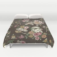 Botanic Wars Duvet Cover by Josh Ln