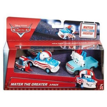 Disney Pixar Cars Toon 1:55 Scale Die Cast Car Mater The Greater Cannonball Mater 3 Pack With Lug Buck the Tooth Fairy