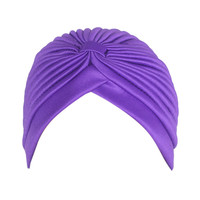 Purple Bonnet Turban