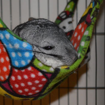 Made to Order Chinchilla Sugar Glider Ferret Fleece Double Sided Hammock