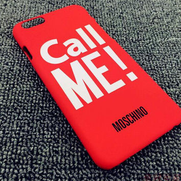 Red CALL ME Case Cover for iphone 5s 6 6s Plus Gift 178