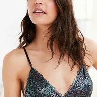 Out From Under Shimmer Lace Triangle Bra - Urban Outfitters