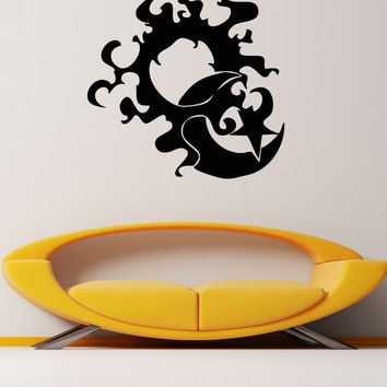 Vinyl Wall Decal Sticker Flaming Sun and Moon #OS_AA1725