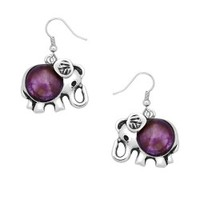 Amethyst Stone Elephant Earrings - Endless Xpressions