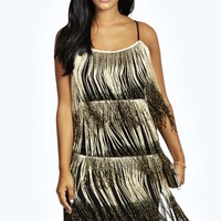 Melissa Fringe Metallic Dress