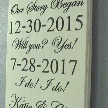Important Date Sign,  Engagement Sign, Family Sign, Home Sign, Established Sign, Wedding Sign, Personalized Sign, Carved Sign,