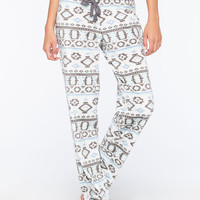 COSMIC LOVE Fair Isle Polar Womens Fleece Pants | Pajamas