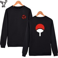 BTS Naruto Classic Anime Capless Hoodies And Sweatshirts For Couples Fashion Winte Hoodies Men Uchiha Syaringan Funny Clothes