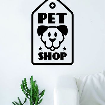Pet Shop Decal Sticker Wall Vinyl Art Home Room Decor Decoration Animal Pet Teen Rescue Cleaning Business Dog Puppy Doggy Cute