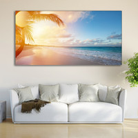 Coastal Print Ocean Wall Art Tropical Decor / Nature Sunrise Wall Art Canvas / Tropical Seascape Coastal Canvas Print / Beach Canvas Print