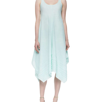 Women's Organic Linen Scoop-Neck Tank Dress, Aurora, Petite - Eileen Fisher - Aurora