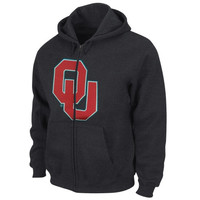 Majestic Oklahoma Sooners Bold Statement Full Zip Hoodie - Black