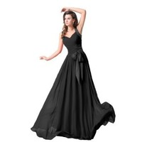 Sunvary 2016 Chiffon Bridesmaid Dress Formal Gowns Prom Gowns with Rhinestones