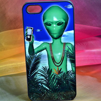 CYBER WEED ALIEN phone home stoner rave e.t. Nokia 2 chains ufo edit trippy tumblr club kid cybrfm wifi trap ancient alien palms iphone case