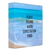 Inspirational Quote with Tropical Beach Scene Binder
