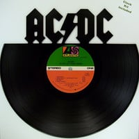 Recycled Vinyl Record ACDC Wall Art