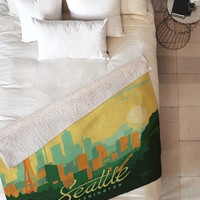 Anderson Design Group Seattle Fleece Throw Blanket