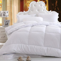 DaDa Bedding Comfy White Down Comforter, Quilt Duvet Filler, King, Queen, Full, Twin.