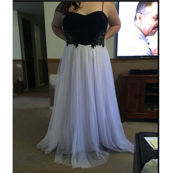 Two Colored Long Prom Evening Dresses Made To Order pst0752