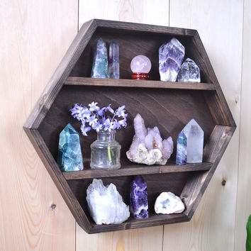 Hexagon Shelf, Geometric shelf, Hexagon