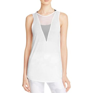 Alo Yoga Womens Mesh Open Back Tank Top