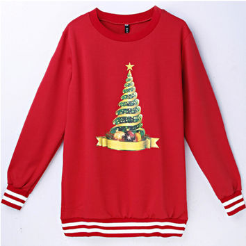 Red Christmas Tree Sweatshirt