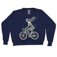 Women's Mermaid Bike Pullover Long Sleeve T-Shirt